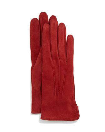 Suede Gloves w/Vented Cuffs