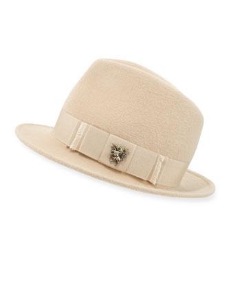 Leonard Trilby Hat w/Unicorn Bow