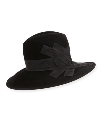 Gangster Trilby Hat w/Band
