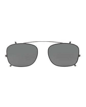 Clip-On Sunglasses for Optical Frames, Dark Gray