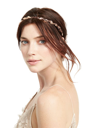 Laurel Leaf Headband, Rose Golden