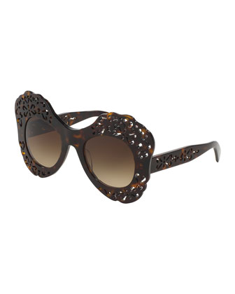 Laser-Cut Plastic Sunglasses