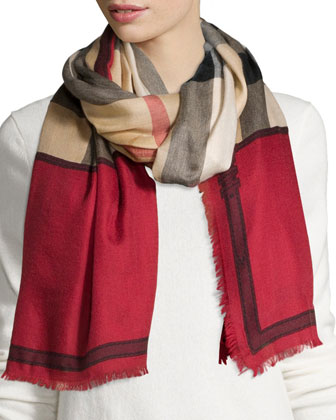 Horseferry Cashmere Check Scarf
