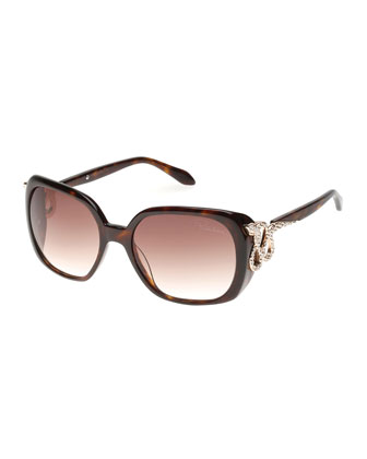Crystal Snake-Temple Sunglasses
