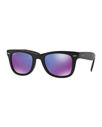 Wayfarer Mirrored-Lens Sunglasses