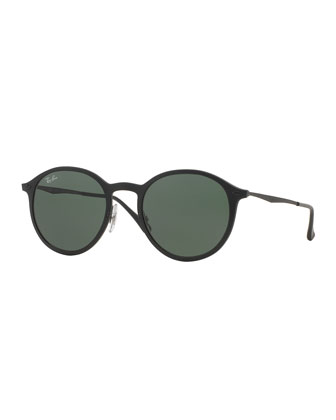 Round Metal-Arm Sunglasses
