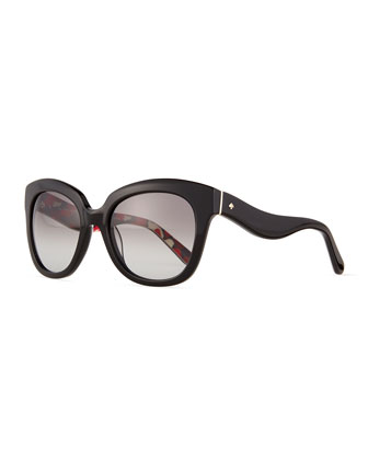 amberly wavy-arm plastic sunglasses