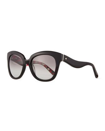 amberly wavy-arm plastic sunglasses