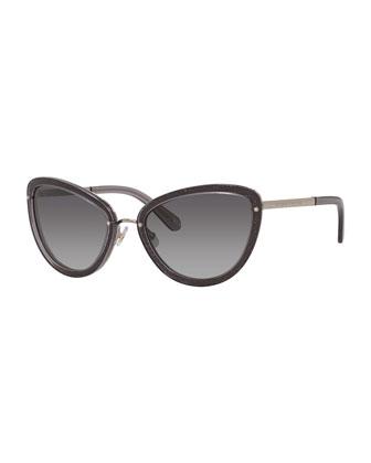 glittered klaudia cat-eye sunglasses