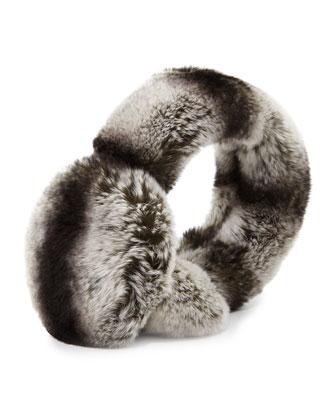 Rex Rabbit Fur Earmuffs w/ Halo Band