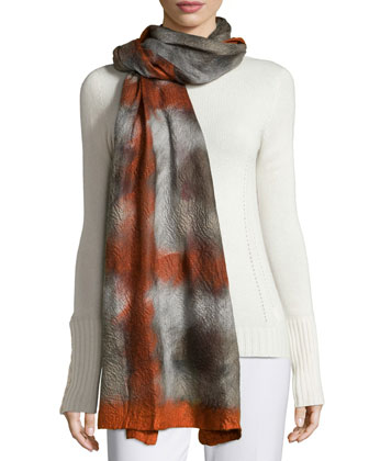 Cashmere Abstract-Print Scarf