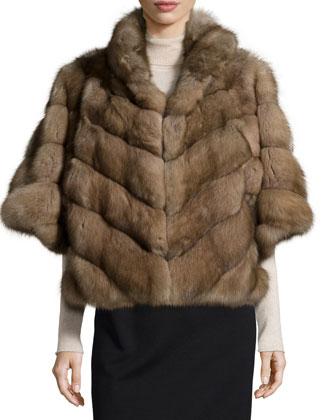 Sable Fur Jacket, Tortora