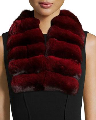 Chinchilla Fur Collar, Dyed