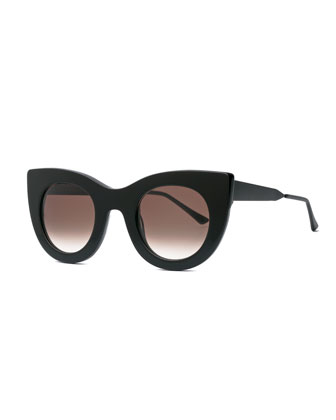 Cheeky Cat-Eye Sunglasses, Black
