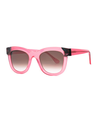 Chromaty Square Sunglasses, Pink