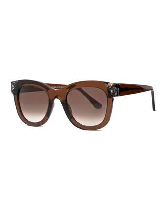 Chromaty Square Sunglasses, Brown