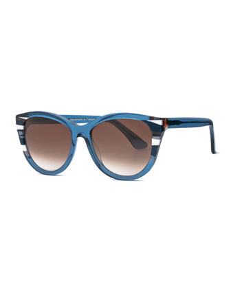 Chromaty Cat-Eye Sunglasses, Blue