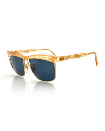 Vintage Oversized Sunglasses, Gold