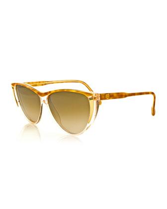 Vintage Cat-Eye Sunglasses, Brown