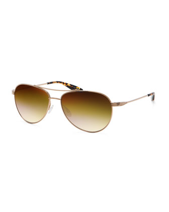 Universal Fit Lovitt Aviator Sunglasses, Gold
