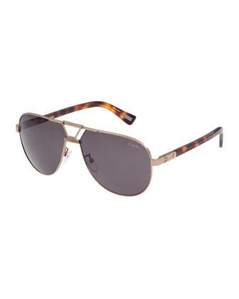 Aviator Polarized Sunglasses, Gray
