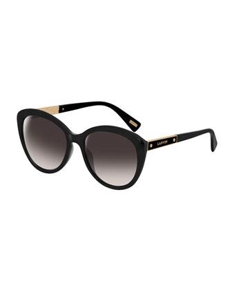 Cat-Eye Logo-Bar Sunglasses