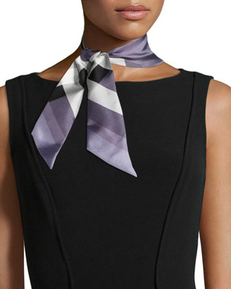 Super Exploded Check Silk Scarf, Lilac