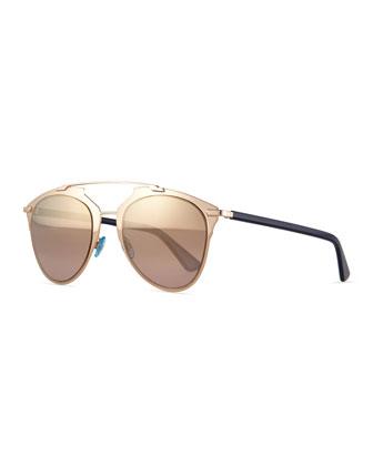 Peaked Aviator Sunglasses, Copper