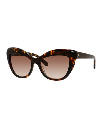 odelia acetate cat-eye sunglasses