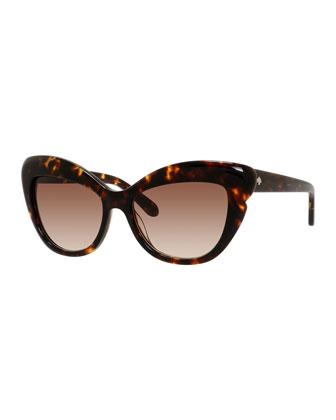 odelia acetate cat-eye sunglasses