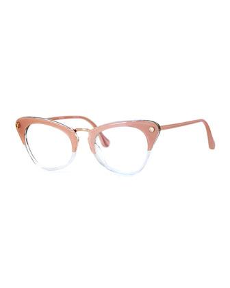 Gramercy Dual-Rim Cat-Eye Optical Frames