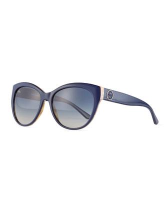 Plastic Cat-Eye Sunglasses