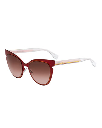 Notched Cat-Eye Sunglasses
