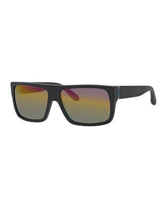 Rubberized Iridescent Sunglasses
