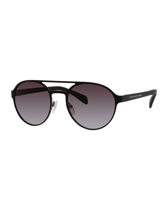 Round Double-Bridge Sunglasses