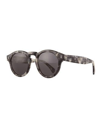 Leonard Round Sunglasses, Gray