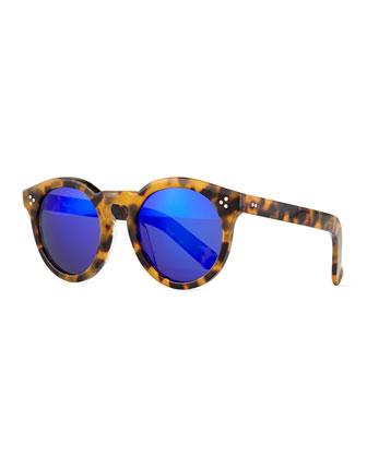 Leonard II Square Sunglasses, Brown