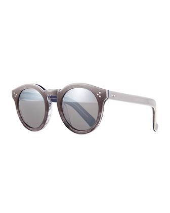 Leonard II Square Sunglasses, Gray