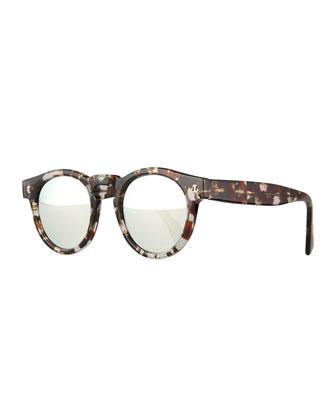 Leonard Eco Mirrored Sunglasses, Brown
