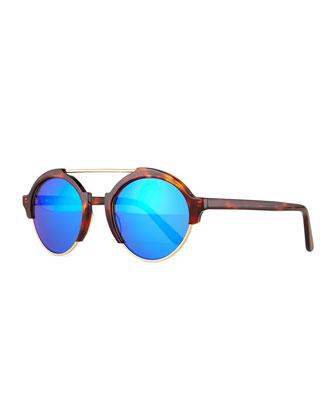 Milan III Mirrored Sunglasses, Tortoise