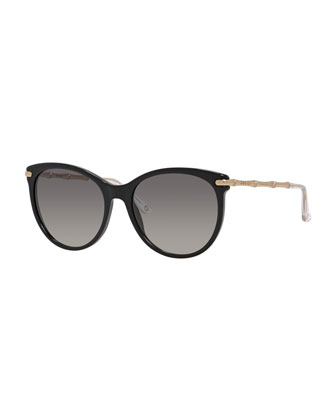 Etched Cat-Eye Sunglasses