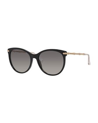 Etched Cat-Eye Sunglasses