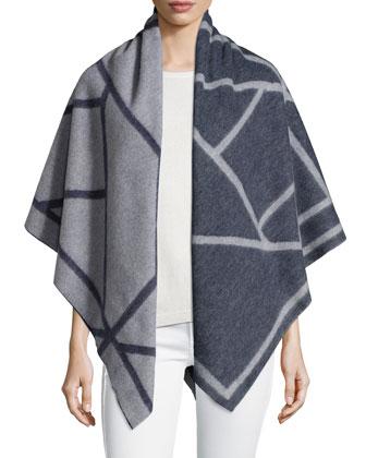 Fret Jacquard Blanket Scarf