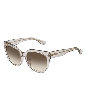 Ola Rhinestone Cat-Eye Sunglasses