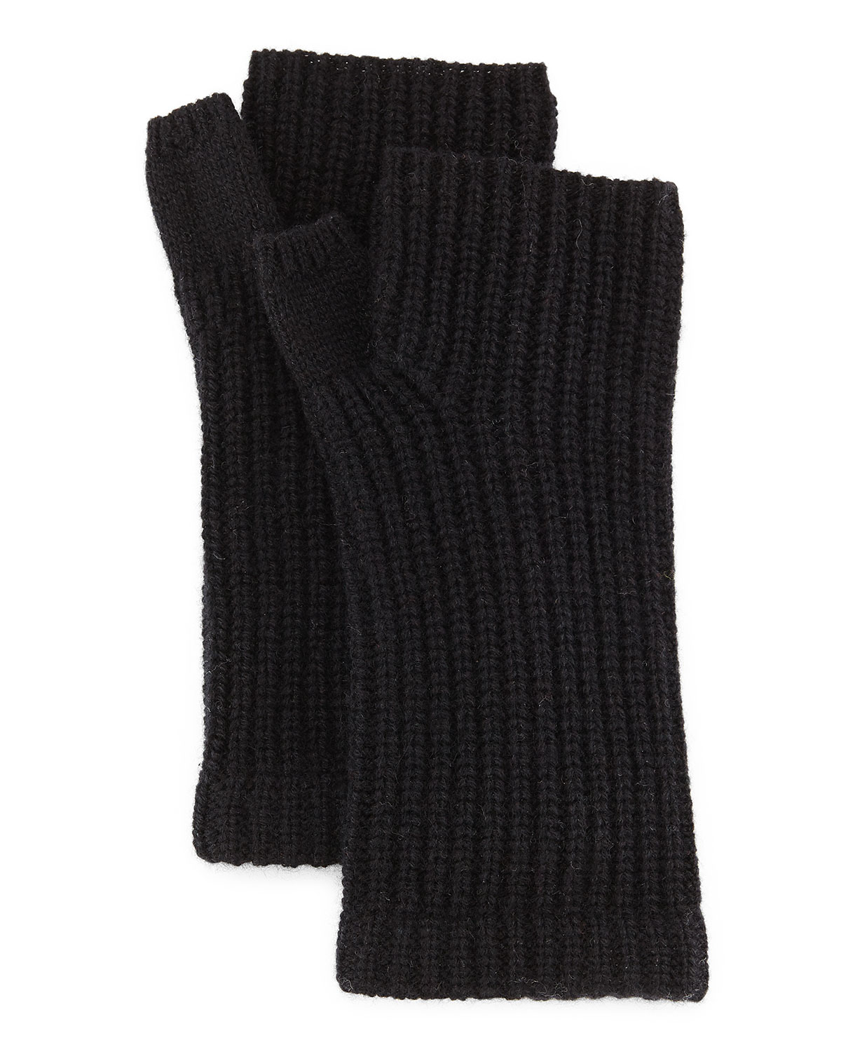 Alexis Cashmere Fingerless Gloves, Black - Rag & Bone