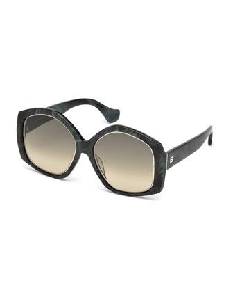 Oversize Pentagon Sunglasses