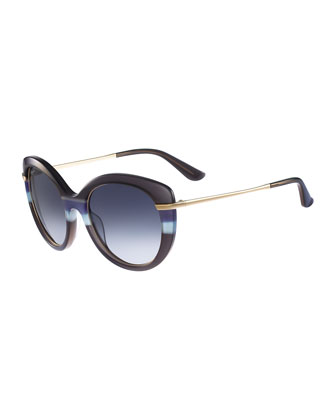 Slight Cat-Eye Sunglasses