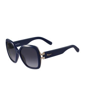 Gancio Oversize Square Sunglasses