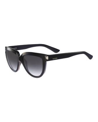 Square Floating Stud Sunglasses