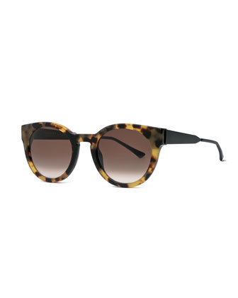 Creamily Leopard Cat-Eye Sunglasses, Brown
